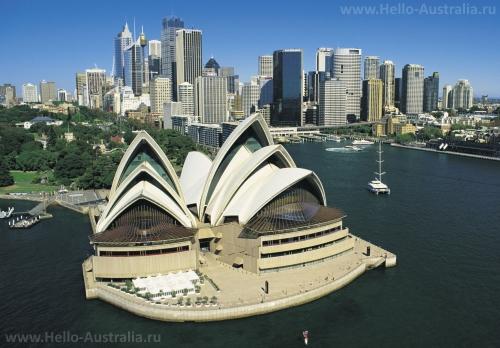 Один из символов Австралии - Сиднейский оперный театр