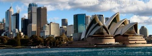 Вид на оперный театр Сиднея