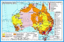 Экономическая карта Австралии