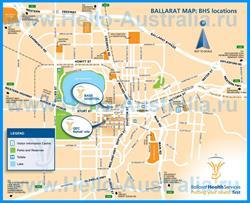 Подробная карта города Балларат