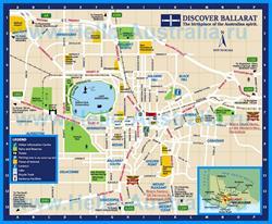 Туристическая карта Балларата с достопримечательностями