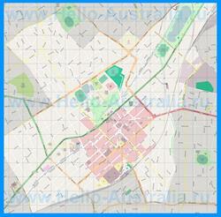 Подробная карта города Бендиго