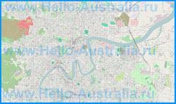 Подробная карта города Брисбен