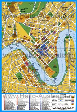 Туристическая карта Брисбена с достопримечательностями