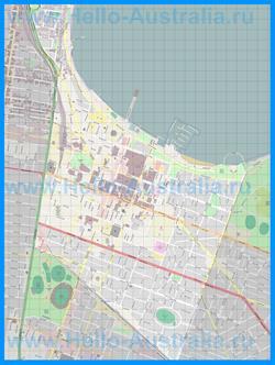 Подробная карта города Джелонг