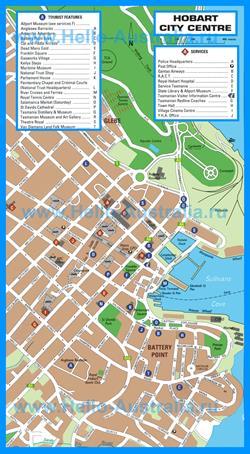 Подробная карта города Хобарт