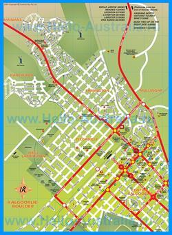 Подробная карта города Калгурли