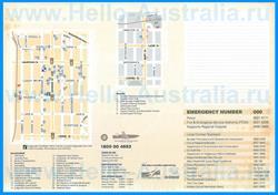 Туристическая карта Калгурли с достопримечательностями