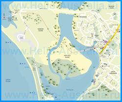 Подробная туристическая карта города Карнарвон