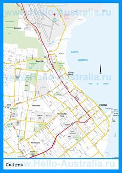 Подробная карта города Кэрнс