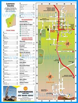 Подробная туристическая карта Леоноры с отелями