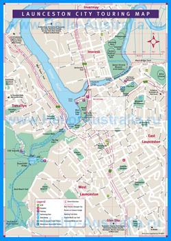 Подробная карта города Лонсестон