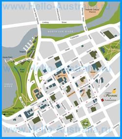 Туристическая карта Лонсестона