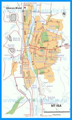 Карта города Маунт-Айза