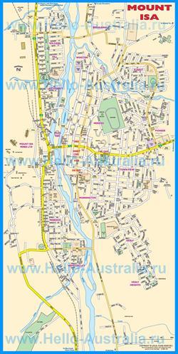 Подробная туристическая карта Маунт-Айзы