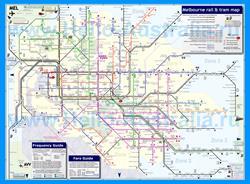 Карта маршрутов транспорта Мельбурна