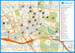 Карта Мельбурна с достопримечательностями