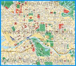 Подробная карта города Мельбурн