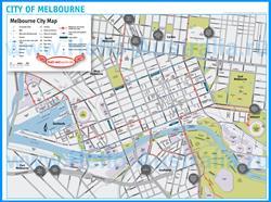 Туристическая карта Мельбурна