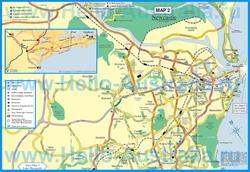 Туристическая карта Ньюкасла с отелями и ресторанами