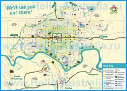 Подробная туристическая карта города Палмерстон с достопримечательностями