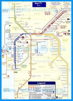 Карта маршрутов транспорта Перта