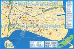 Туристическая карта Перта с отелями