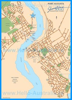 Карта города Порт-Огаста