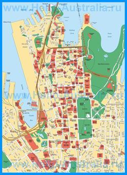 Карта достопримечательностей Сиднея