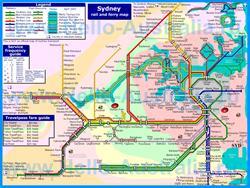 Карта маршрутов транспорта Сиднея