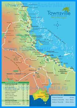Карта Таунсвилла с окрестностями