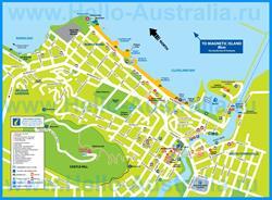 Подробная туристическая карта города Таунсвилл с отелями и достопримечательностями