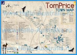 Подробная туристическая карта города Том-Прайс с достопримечательностями