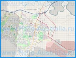 Подробная карта города Уодонга