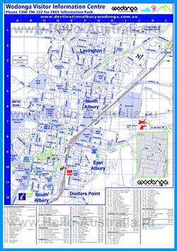Туристическая карта Уодонги с достопримечательностями и отелями